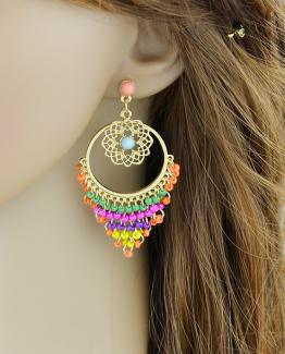 bohemian kleurrijke oorbellen