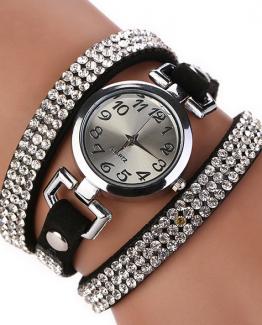 strass horloge zwart