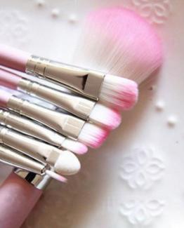 make-up kwasten set roze