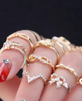ringen set gold