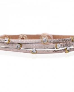 armband zacht roze