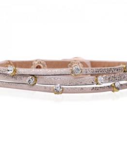 armband zacht roze strass