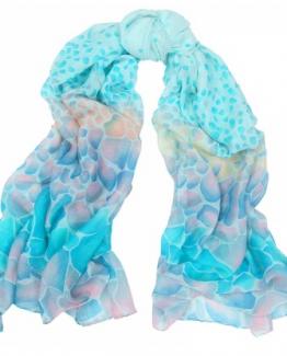 sjaal aqua