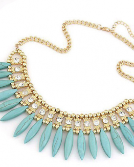 Egyptische koningin ketting turquoise