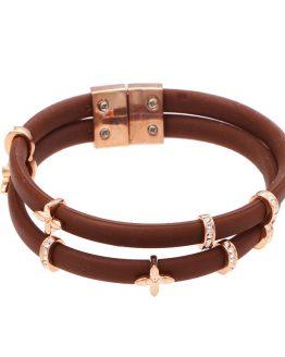 Hippe bruine armband met strass