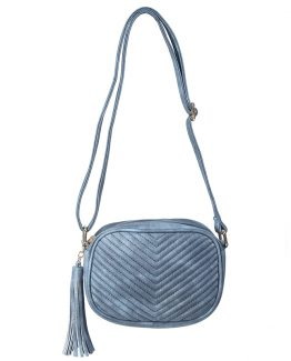 Leatherlook fashion tas blauw