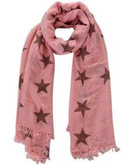 sjaal sterren roze