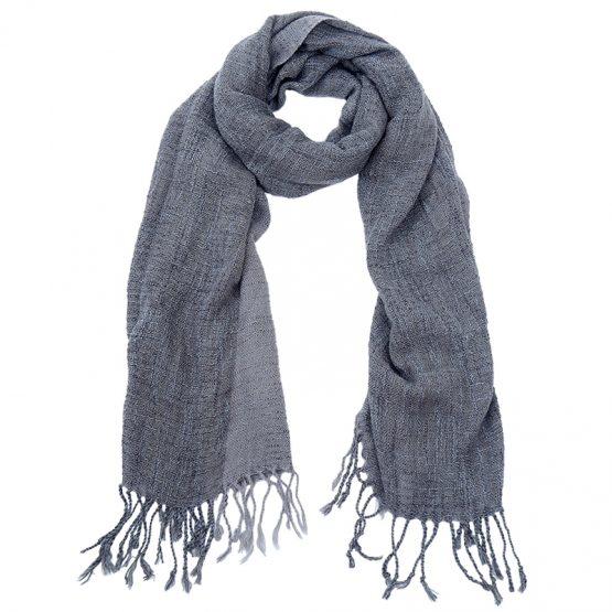 fuzzy sjaal grijs