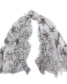 sjaal met sterren bruin