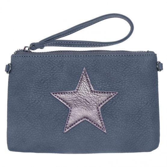 kleine blauwe tas met ster