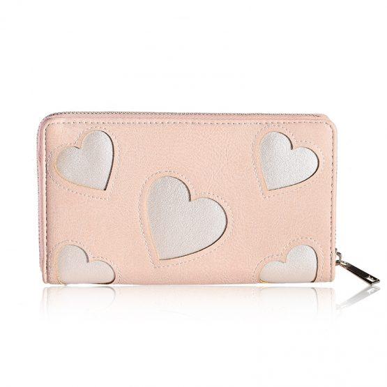 roze portemonnee met hartjes