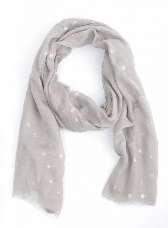 sjaal metallic stippen