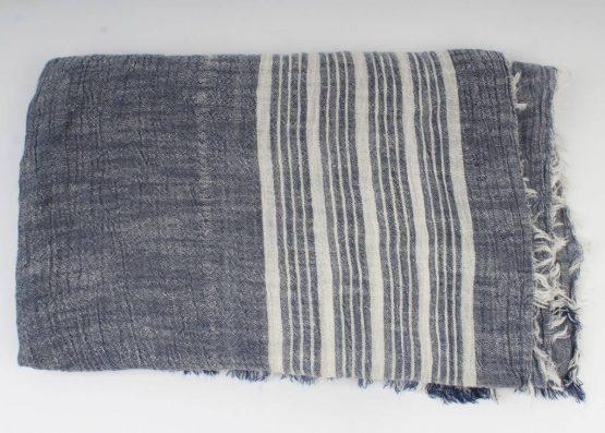 gestreepte blauwe sjaal
