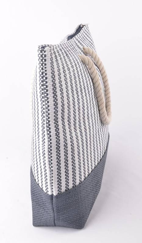 shopper strandtas donkerblauw met touw