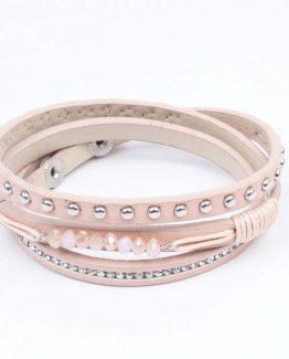 wikkelarmband pastel roze