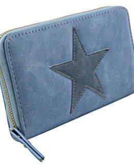 blauwe portemonnee met donkerblauwe ster