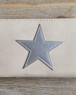 wallet portemonnee stars zilver