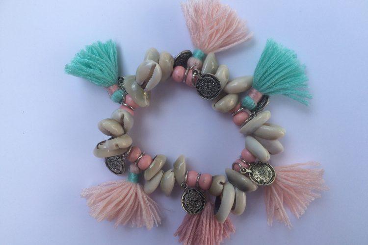 armband met schelpen ibizastyle