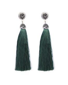 elegante tassel oorbellen groen