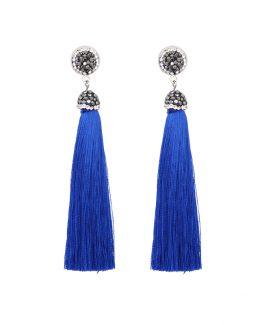 elegante tassel oorbellen blauw