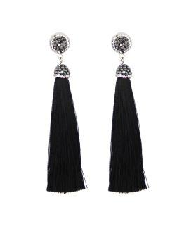 elegante tassel oorbellen zwart