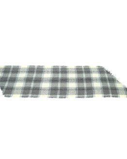 heerlijke warme sjaal, grijs wit geblokt