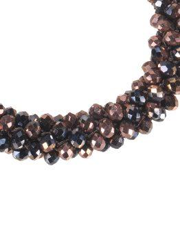 Mooie stretch armband met kleine kristallen, de armband is ook te gebruiken als haarelastiek, handig!