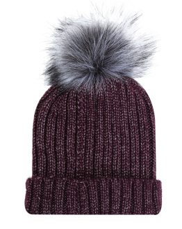 Supergave beanie bordeauxkleur