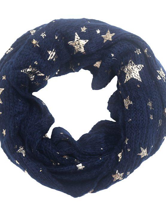 colsjaal met sterren blauw