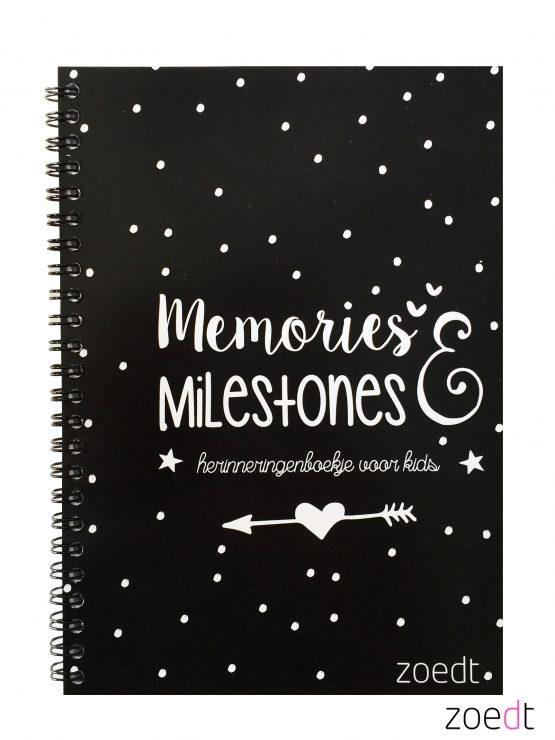 Memories en milestones invulboek herinneringenboek Zoedt