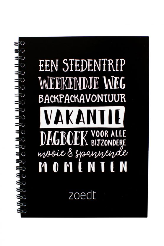 Vakantie dagboek invulboek Zoedt