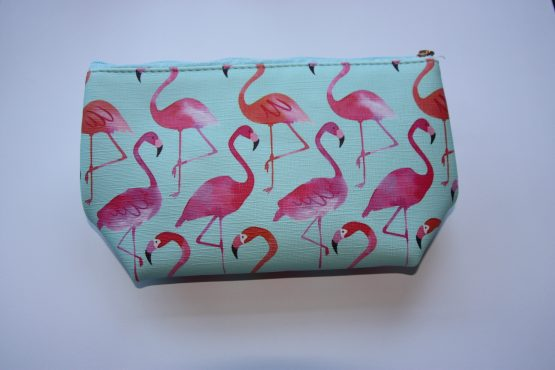 make up tas flamingo party