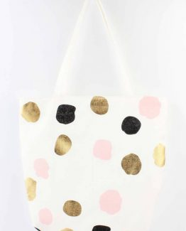 shopper strandtas dots