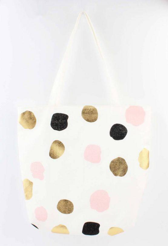 shopper strandtas dots