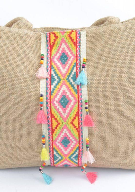 Shopper 'Beads' jute