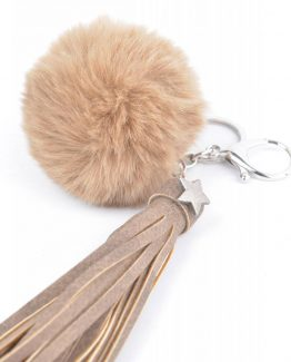 sleutelhanger met pompon