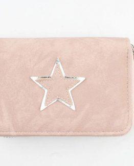roze portemonnee met zilveren ster