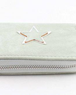 mintgroene portemonnee met zilveren ster