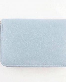 blauw grijze portemonnee met glitters