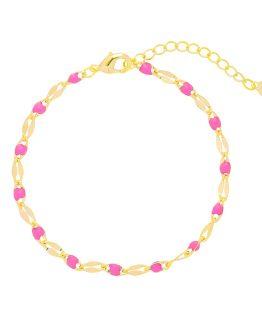 trendy armband met roze kralen