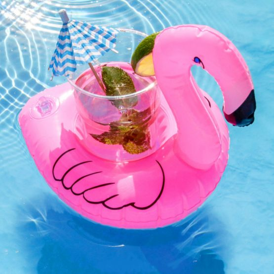 inflatable cup holder flamingo