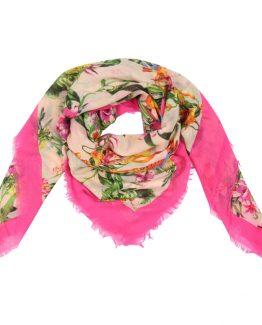 sjaal tropische sferen roze roze