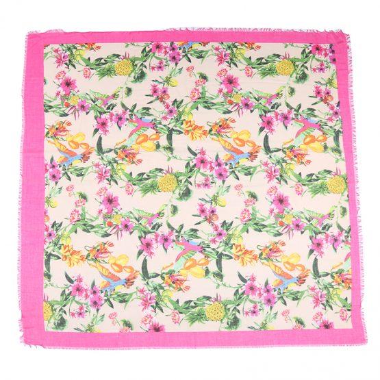 sjaal tropische sferen roze