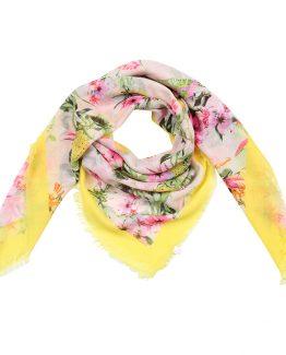 sjaal tropische sferen geel