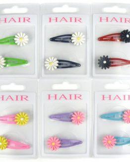 klikklak haarspeldjes met bloem