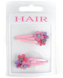 klikklak haarspeldjes met bloemetjes
