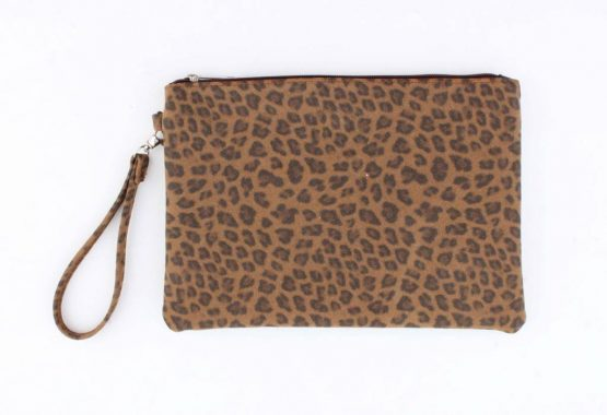 clutch panterprint leopard bruin