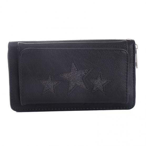 portemonnee pocket stars zwart