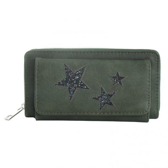 portemonnee met sterren groen