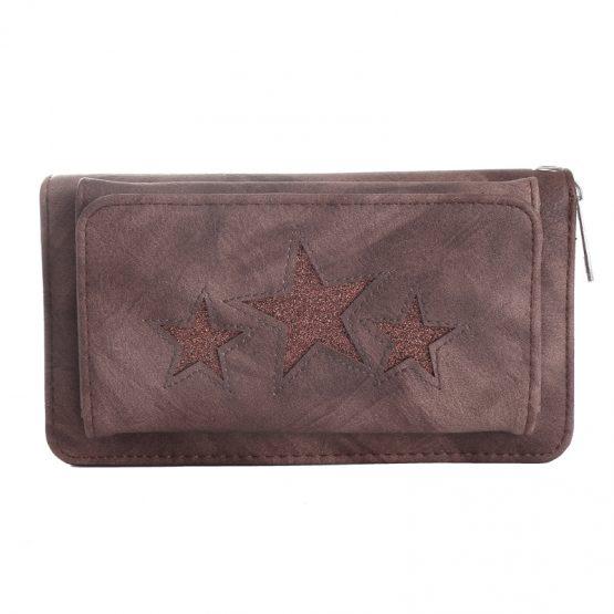 portemonnee pocket stars bruin